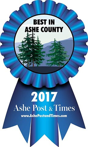 Voted 2017 Best Home Builder in Ashe Post & Times 'Best of Ashe' Awards